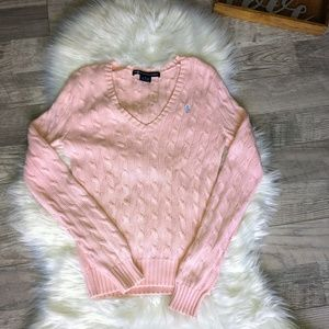 Ralph Lauren Sport Polo Women's Pink knit Sweater